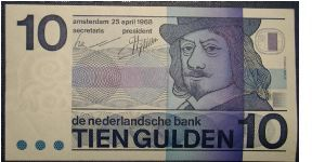 The Netherlands 10 Gulden 1968