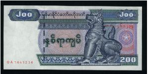 200 Kyats.