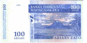 Blue and tan on multicolour underprint. Banknote