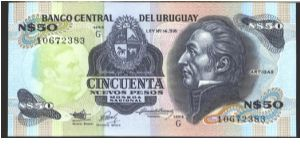 Like #61 but J. G. Artigas portrait printed in watemark area.