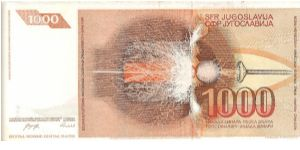 Banknote from Yugoslavia
