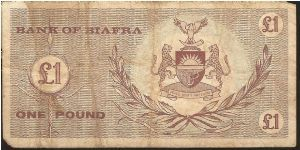 Banknote from Biafra