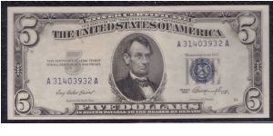 1953 $5 SILVER CERTIFICATE