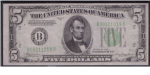 1934 A $5 NEW YORK FRN Banknote