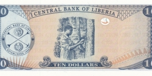 Banknote from Liberia