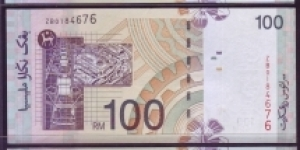 REPLACEMENT RM100. PREFIX ZA.ZB.ZC SINGED BY ZETI AZIZ Banknote