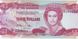 3 DOLLAR Banknote