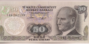 Turkey 50 Lira 1976 P188. Banknote