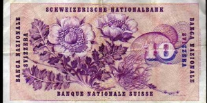 Banknote from Switzerland