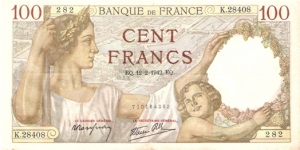 100 francs Sully Banknote