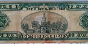 USD1 Million Silver Certificate 1928 & 1934 For Sale USD1.5 Million Banknote