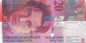20 Francs Honegger Banknote