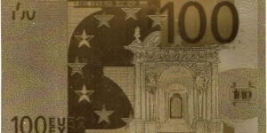 Novelty gold 100 euro note Banknote