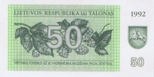 Banknote from Lithuania