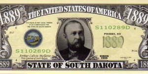 1889 State of South Dakota__ pk# NL__ (ACC American Art Classics)__ Not Legal Tender  Banknote