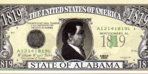 1819 State of Alabama__ pk# NL__ (ACC American Art Classics)__ Not Legal Tender  Banknote
