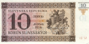 Banknote from Slovakia