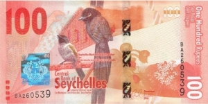 Seychelles 100 Rupees  Banknote