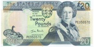 Jersey  20 Pounds  Banknote