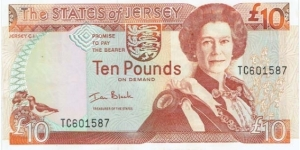 Jersey 10 Pounds  Banknote