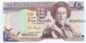 Jersey 5 Pounds  Banknote