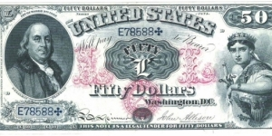 50 Dollars(Reproduction) Banknote