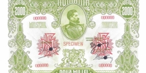 2000 Lei(Reproduction) Banknote