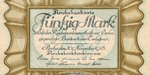 50 Mark Banknote