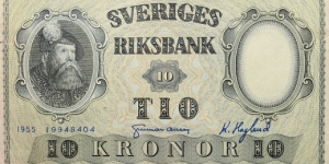 10 Kronor Banknote