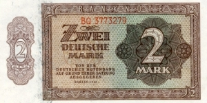 2 Mark - East Germany Banknote