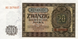20 Mark - East Germany Banknote