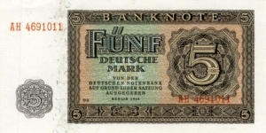 5 Mark - East Germany Banknote