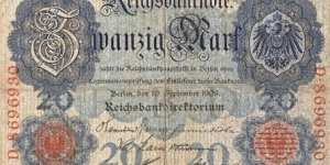 Imperial Germany Banknote