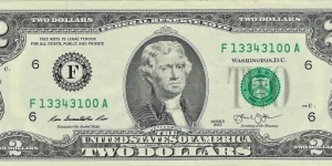 USA 2 Dollars