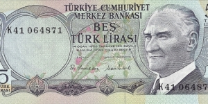 TURKEY 5 Lirasi