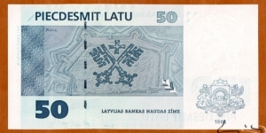 Banknote from Latvia