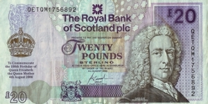Scotland 2000 20 Pounds.