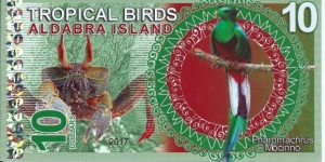 ALDABRA ISLAND - 10 Dollars - pk NL - Pivate Issue - Polymer - Not Legal Tender   Banknote