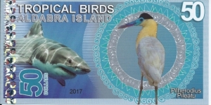 ALDABRA ISLAND - 50 Dollars - pk NL - Pivate Issue - Polymer - Not Legal Tender  Banknote
