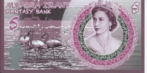 ALDABRA ISLAND - 5 Dollars - pk NL - Pivate Issue - Polymer - Fantasy Bank - Not Legal Tender  Banknote