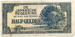 1/2 Gulden(Dutch East Indies under Japanese Occupation 1942)  Banknote