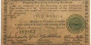5 Pesos (Negros Emergency Currency Board 1944) Banknote
