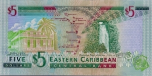 Banknote from East Caribbean St.