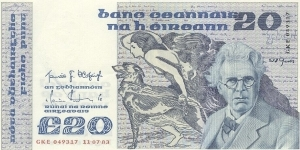 Ireland 20 Pounds Banknote