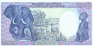 Banknote from Chad