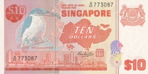 Singapore 10$ 1976 Banknote