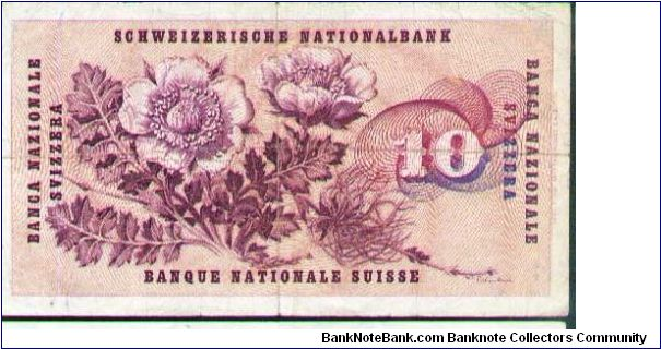 Banknote from Switzerland year 1977