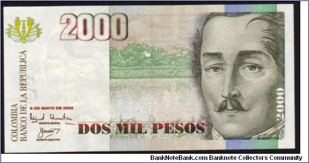 2000 Pesos,Extra Fine note. Banknote