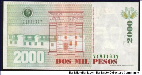 Banknote from Colombia year 2002