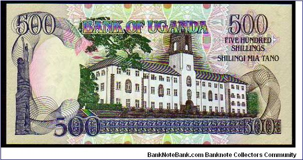 Banknote from Uganda year 1991